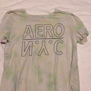 Light green tie-dye Aero shirt